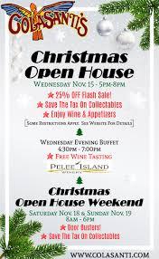 christmas open house flyer annual home decor collectables christmas open housecolasantis