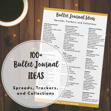 Personal Journals For Sale 100 Bullet Journal Ideas Spreads Trackers And