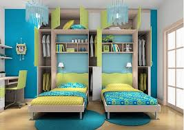amazing bedroom designs. Teal And Green Interior Colors For Amazing Bedroom Ideas With Twin Bed  Frames Using Stylish Children Wardrobe Design Amazing Bedroom Designs