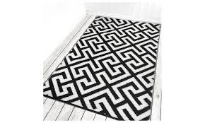 picket fence black cream 5x8 ft 150 x 240 cm outdoor rug