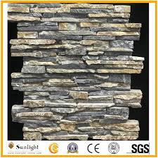 China <b>Wholesale Natural Stone Black</b>/Yellow Culture Stone for Wall ...