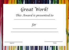 Most Likely To Award Template Free Printable Award Certificates For Elementary Students