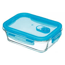 pure seal airtight glass food container oven dish 600 ml rectangular