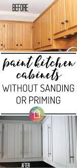 paint kitchen cabinets before and after learn how to paint kitchen cabinets without sanding or priming