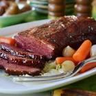 brown sugar and mustard glazed corned beef