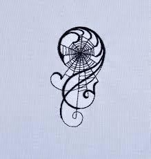 Gothic Machine Embroidery Designs Gothic Spiderweb Machine Embroidery Design 4x4