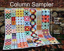 Original Quilts & Quilt Patterns by KarenGriskaQuilts on Etsy & Column Sampler Quilt Pattern, Easy Scrap Quilt Pattern, Extra-Long Twin  Quilt, Adamdwight.com
