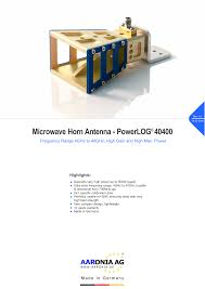 Microwave Horn Design 40ghz Horn Antenna Manualzz Com