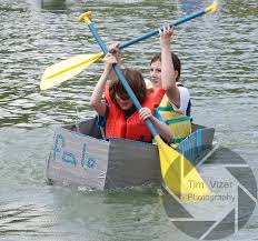 Girl Scout Cardboard Canoe Races | Tim Vizer Photography