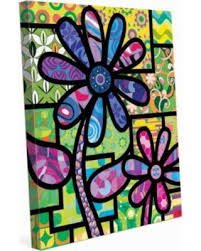 quilted flowers purple on green canvas wall art 20 x 24 x 1 5 on purple and green canvas wall art with great deals on quilted flowers purple on green canvas wall art 20