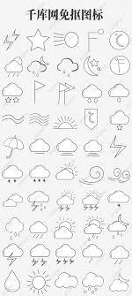 Weather Tree Chart Weather Forecast Chart Illustration Cartoon Illustration