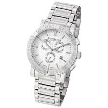 stuhrling original watches diamonds 99 99 for a stuhrling men s diamond bracelet watch in white gp11801 725 list price
