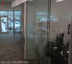 glass frameless walls for interior office fronts and daylighting