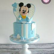 Baby Mickey Baby Shower Cakes