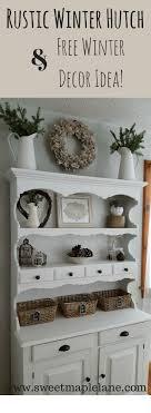 ideas china hutch decor pinterest: rustic farmhouse winter hutch decor and free winter decor idea