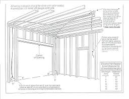 overhead door jamb detail framing a garage door garage door header framing detail overhead door frame