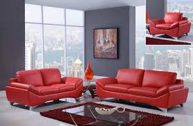 Modern Sofa For Living Room Mesmerizing Global Furniture UR48R Natalie Red Sofa Loveseat And Chair