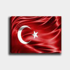 Türk Bayrağı Kanvas Tablo   Dekoratif Kanvas Tablolar   T