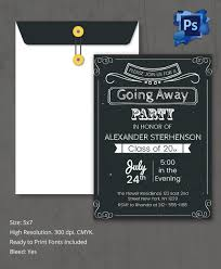farewell party invitation psd format going away invitation party template