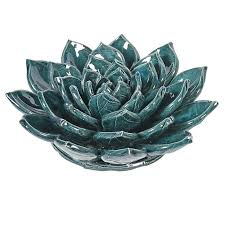 ceramic wall flowers teal ceramic flower wall decor