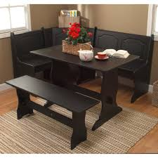 Round Kitchen Table With Leaf Wood Black Chairs Dining Set Small