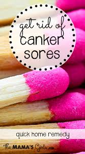 how to get rid of canker sores home