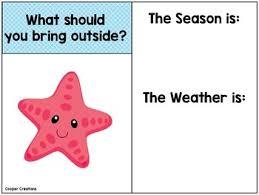 Starfish Chart Weather Chart Ocean Theme