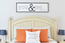 master bedroom sign with cricut