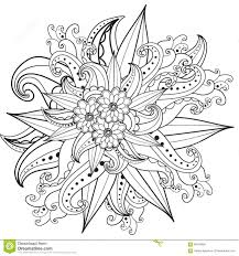 Butterfly Pattern Flowers Coloring Pages Adults Stock Vector Inside