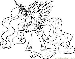 Princess Celestia Coloring Page Free My Little Pony Kids Room