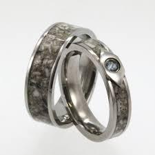 topaz enement ring with anium wedding band pet memorial ring