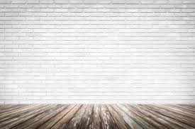 wood floor and wall background. Brick Wall Background With Wood Floor Stock Photo - 44877194 And F
