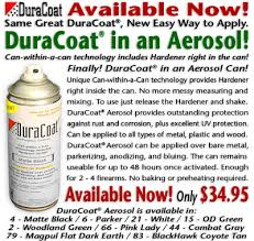 Duracoat Aerosol Color Chart Coating Breakthrough Two Part Duracoat In One Rattle Can