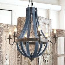 wooden wine barrel chandelier napa wood metal