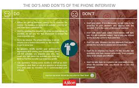The Do S And Don Ts Of An Interview Ajilon Luxembourg The Dos And Donts Of The Phone Interview