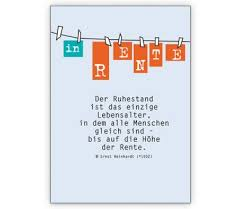 In Rente Die Grußkarte Zum Ruhestand Grusskarten Onlineshop