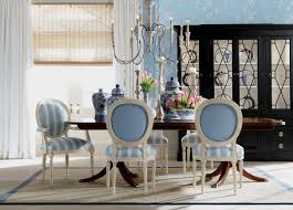 ethan allen dining chairs. Create A French Style Dining Room With Contrasting Fabrics. #EthanAllen #EthanAllenBellevue #AlsaceSky Ethan Allen Chairs