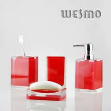 Fascinating Red Bathroom Accessories Red Bathroom Accessories