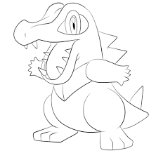 Small Picture Click to see printable version of Totodile Coloring page LineArt