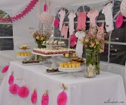 pink & pretty clothesline baby shower - via milissweets.com