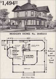 images about House Plans    on Pinterest   Old Farm Houses     Sears Modern Home No  B   Late Queen Anne   Cross gable