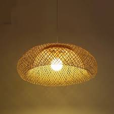 Asian Ceiling Lights Us 53 2 24 Off 42 52 62cm Handmade Bamboo Wicker Rattan Shade Pendant Light Fixture Rustic Asian Country Art Hanging Lamp Dining Room In Pendant
