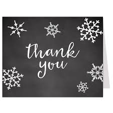 snowflake thank you cards little snowflake chalkboard thank you card the invite lady