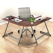 corner workstations for home office. SHW L-Shaped Home Office Corner Desk Wood Top, Walnut Workstations For E