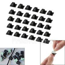 wire clips cable ties organizers 30pcs mini self adhesive car wire clips rectangle tie sticker cable cord holder