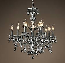 19th century rococo iron crystal chandelier restoration hardware