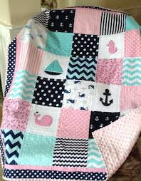 Best 25+ Crib quilts ideas on Pinterest | Baby quilt patterns ... & CRIB SET/Quilt, Crib Skirt, Pillow,/Seahorse, Whale, Anchor in Pink, Aqua  and Navy/Sealife Quilt Adamdwight.com
