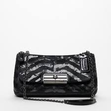 Lyst - Coach Kristin Occasion Haircalf Sequin Willow Small Shoulder ...