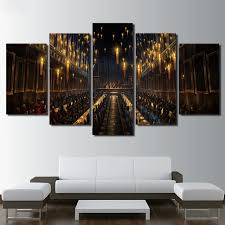 modern wall art print 5 pieces home decor for living room harry potter scene canvas painting