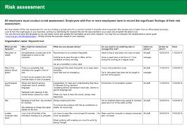 Risk Assessment Form Sample Assessment Health And Safety Risk Assessment Form Picture Health 19